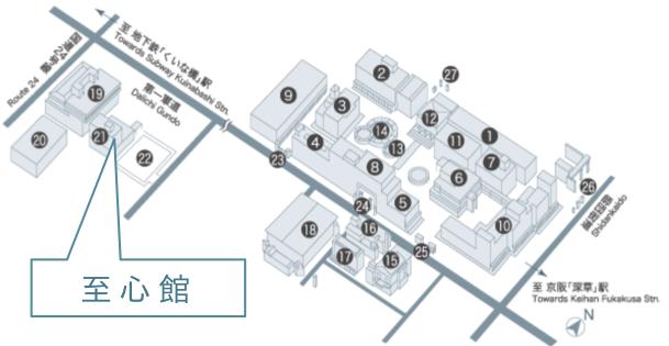 龍谷大学(深草キャンパス)アクセスマップ
