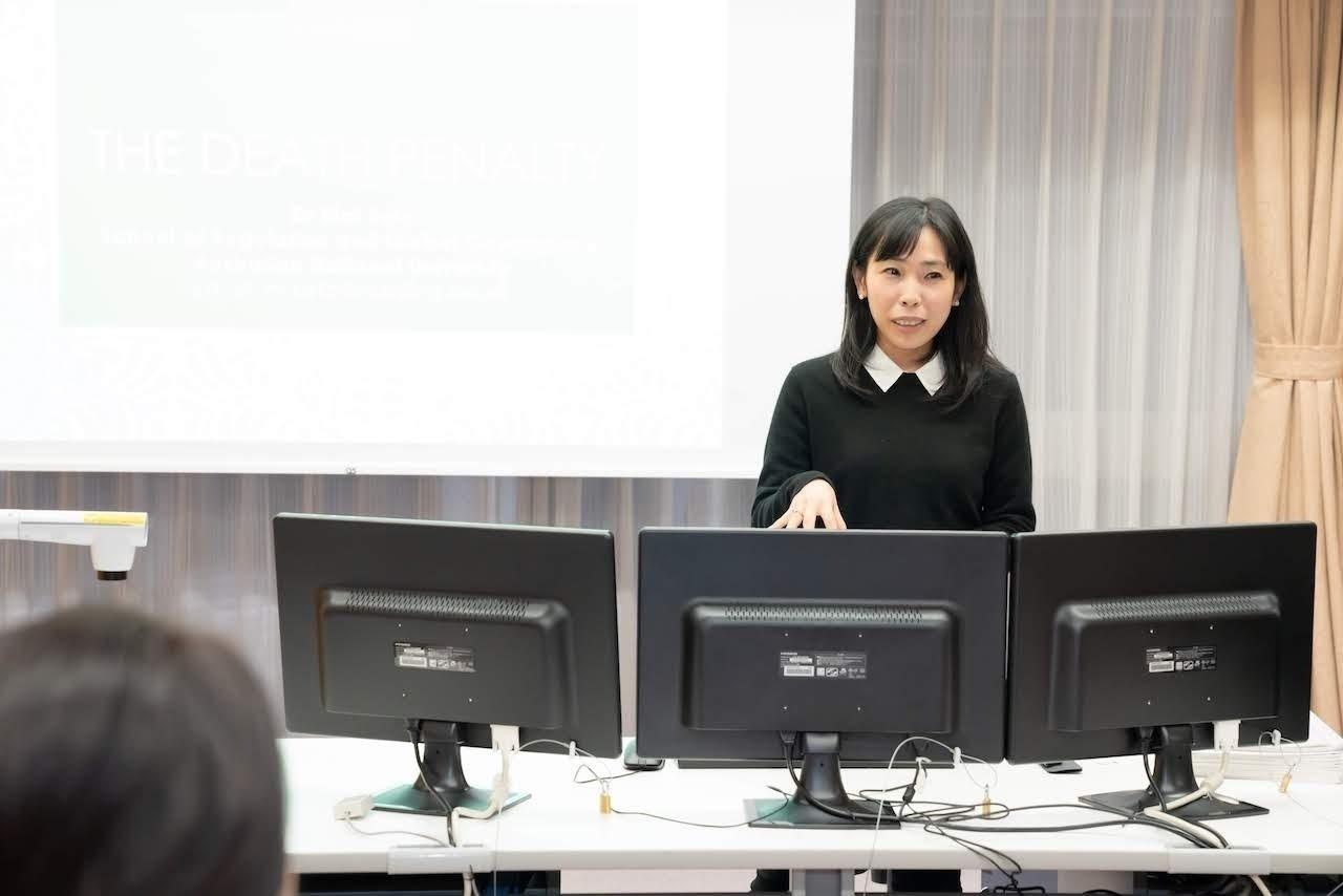 龍谷大学で開催した「龍谷・犯罪学」英語セミナーのようす