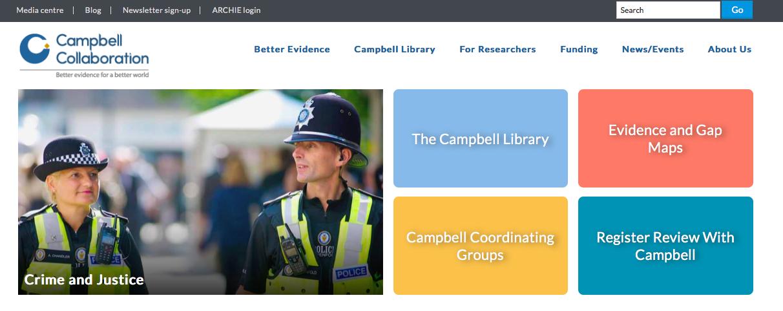 参照:The Campbell Collaboration公式HP https://campbellcollaboration.org