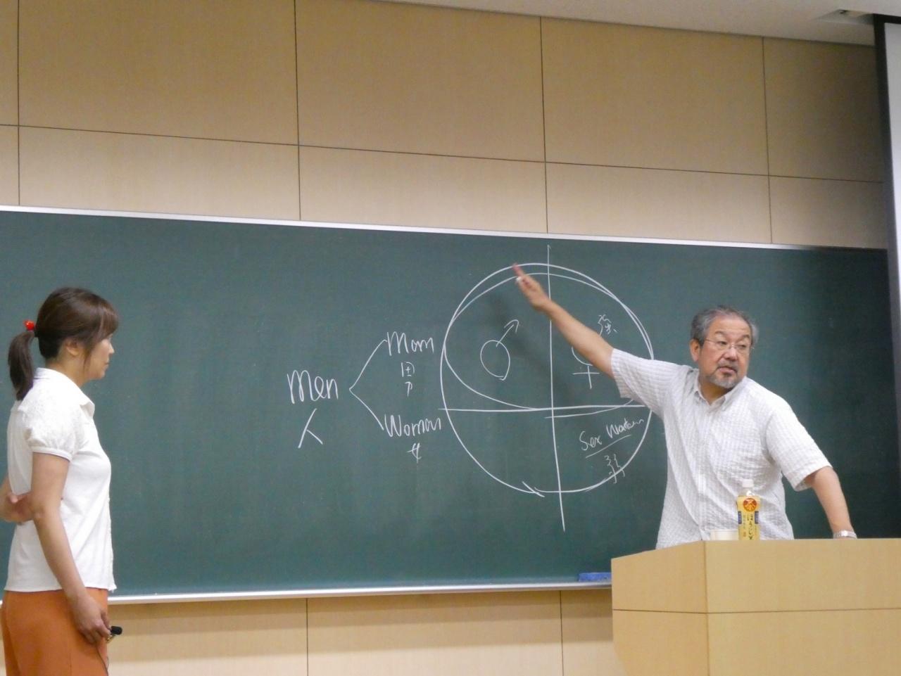 要氏と石塚教授による質疑応答のようす