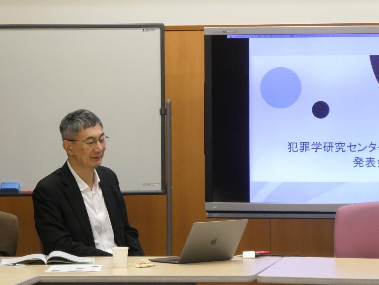 武田俊信教授(「司法心理学」ユニット長 / 文学部教授)